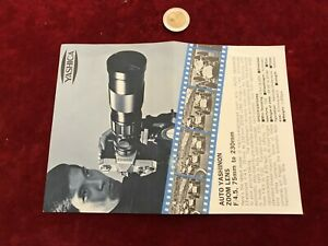 Ancien Catalogue Brochure Matériel Photo N 17 Yashica