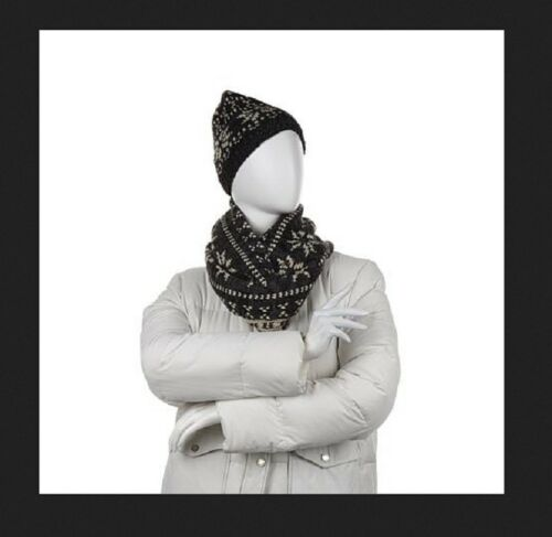 Bearpaw Knit Hat and Infinity Scarf 2-piece Set
