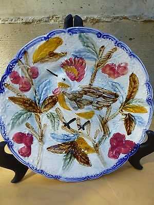Distinctive For Its Traditional Properties y8-w7-a9 Diligent Outstanding Antique / Vintage Majolica Plate Marked