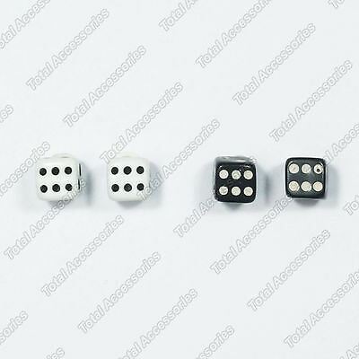 Dice Die Cube Magnet Stud Earrings - Magnetic Mens Womens Fashion - NEW