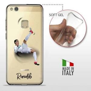 Details about Huawei P10 Lite COVER GEL PROTETTIVA TRASPARENTE Calcio Soccer Cristiano Ronaldo