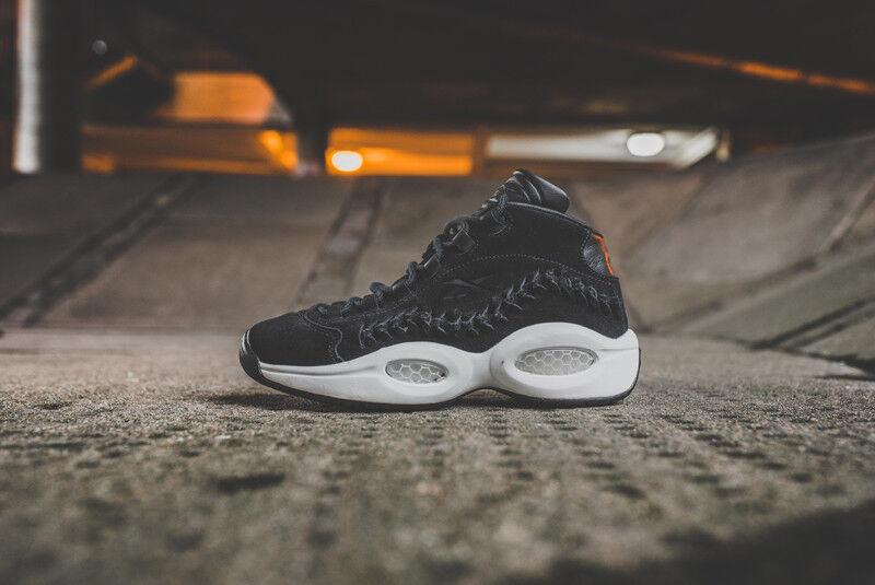 Reebok pregunta Mid Salón de la Fama Allen Iverson Baloncesto Zapatos De Gamuza V72718