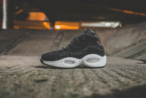 REEBOK Question Mid Hall Of Fame Allen Iverson Suede Basketball ... 43c5ae3cc