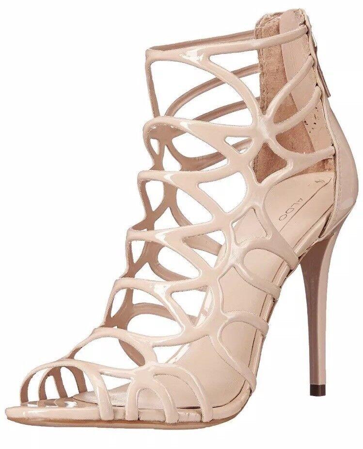 benvenuto a comprare Aldo Eryde Patent Patent Patent Caged Strappy Sandals Heels Natural Nude Dress Pumps Dimensione 9  autorizzazione ufficiale