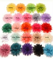 Haarblume  mit Krokodilspange HAARBLÜTE  Ansteckblume Haarspange 18 Farben