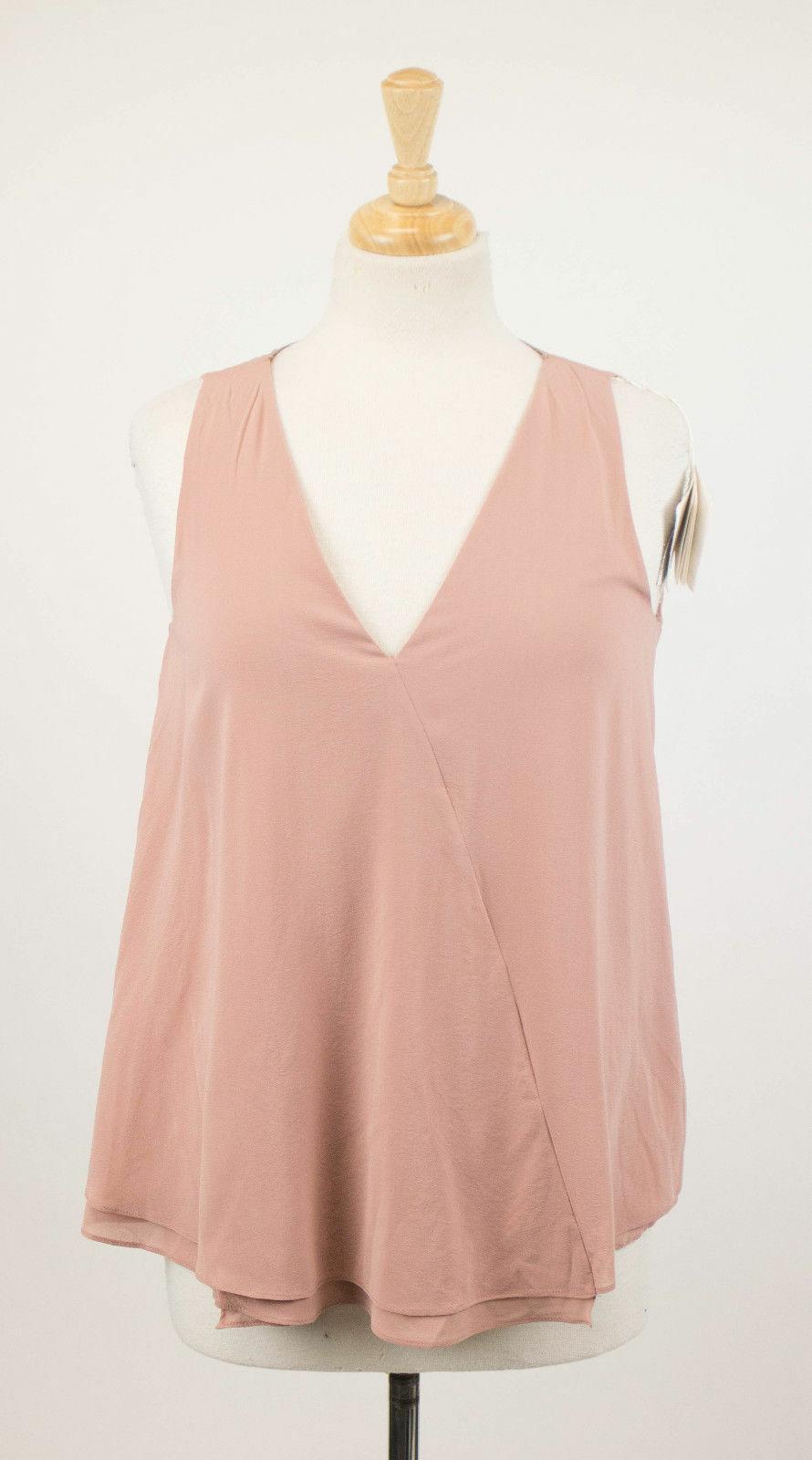 NWT BRUNELLO CUCINELLI Woman's Pink Silk Blend Blouse Shirt Top Size M