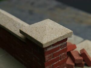 2  35mm REAL Sandstone Miniature Pier Cappings