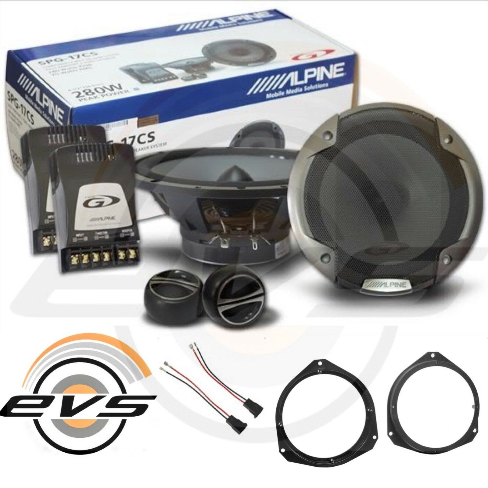 ALPINE SPG-17CS Kit Altoparlanti a 2 vie separate 16,5 cm 6,5/'/' 280W COPPIA