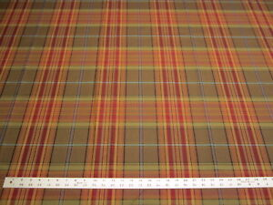 3 5 8 Yards Of Plaid Upholstery Fabric R2631 Ebay