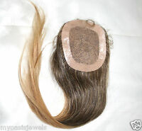 Silk Top Full Lace Closure 100% Human Indian Remy Hair Partial Wig Color 2 + 27