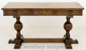 Jacobean-Desk-Oak-Carved-Side-Table