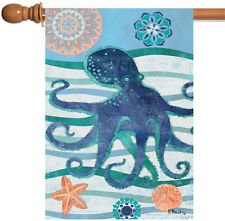 NEW Toland - Oceanic Octopus - Colorful Blue Sea Star Swimming House Flag