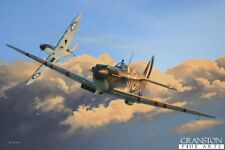 Aviation Art Print signed ltd ed Battle of Britain RAF Spitfire world war two