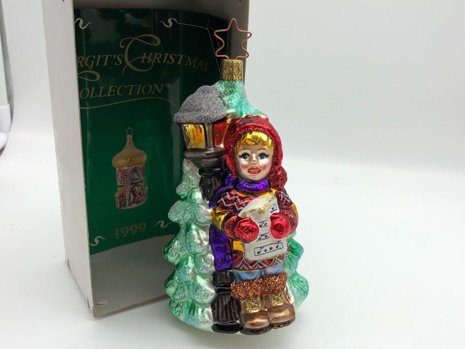 Inge verre BIRGIT's chanteuse Christmas Collection petit de Noël chanteuse BIRGIT's 14 cm limitier 333aa8