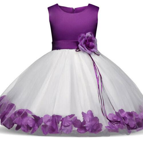 Princess Flower Girl Dress Summer Tutu Wedding Birthday Party Dresses For Girls
