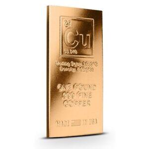 Elemental 1 Pound Copper Bar