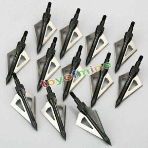 12pcs-caccia-Broadheads-100-Grain-3-lama-Broad-Arrow-Heads-Consigli-Frecce-vite