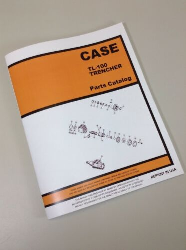 J I CASE TL100 TRENCHER PARTS MANUAL CATALOG EXPLODED VIEWS ASSEMBLY WALK BEHIND