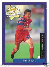 Rare '96 Panini Germany's EUROPEAN SUPER STAR Lothar Matthaus with Bayern Munich