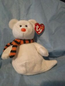 """2004 TY BEANIE  BUDDY """"QUIVERS"""" THE GHOST BEAR"""