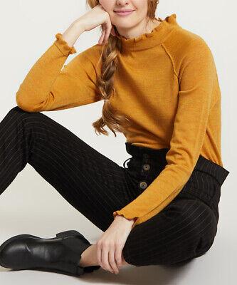 Free People Needle /& Thread Merino Wool Sweater Mustard NWT $118