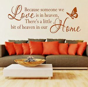 Wall-Stickers-Quotes-Because-someone-we-love-is-in-heaven-Art-Decor-SVIL044