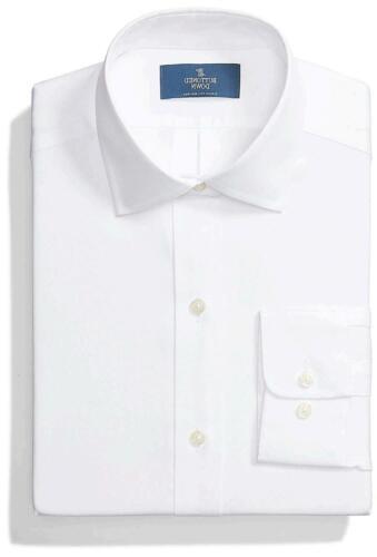Size 16.0 BUTTONED DOWN Men/'s Classic Fit Spread Collar Solid Non-Iron White