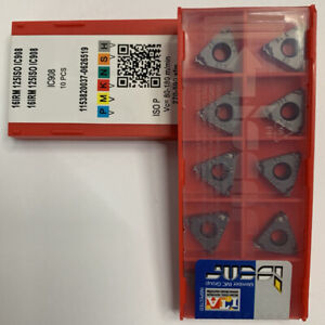 ISCAR-16IRM-1-25ISO-IC908-Threaded-blade-Carbide-Inserts-10Pcs