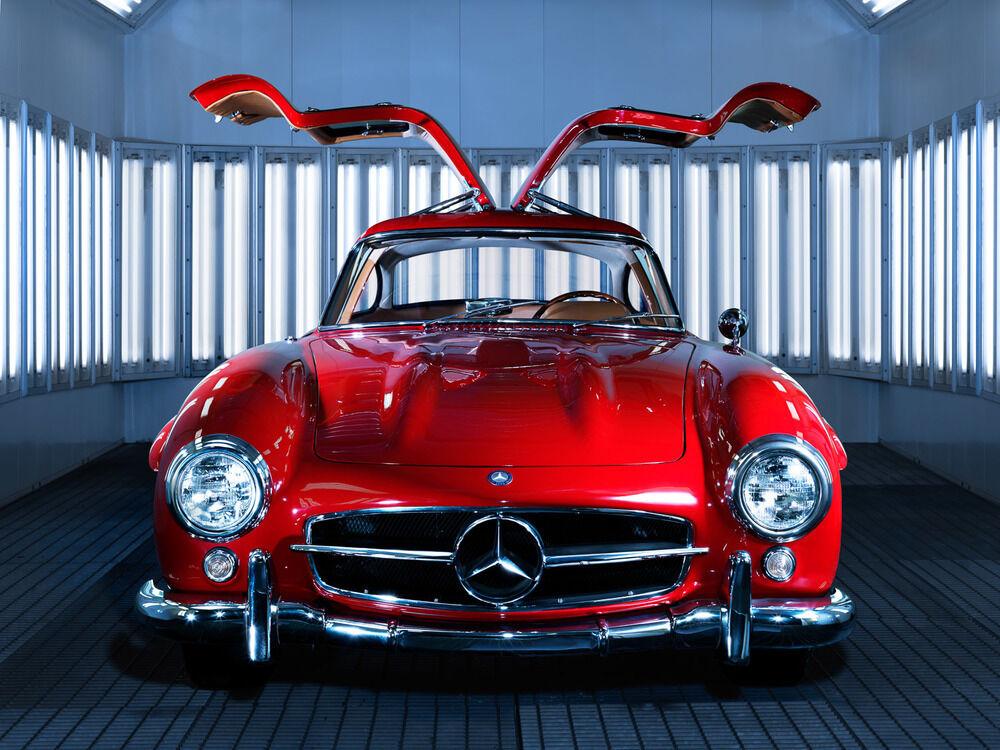 1 Mercedes Sport Auto De Carrera Vintage Raro Exótico 43 concepto 18 SL 24 CL 12