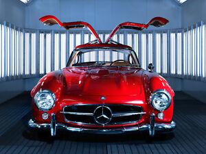 1-Mercedes-Sport-Auto-De-Carrera-Vintage-Raro-Exotico-43-concepto-18-SL-24-CL-12-300