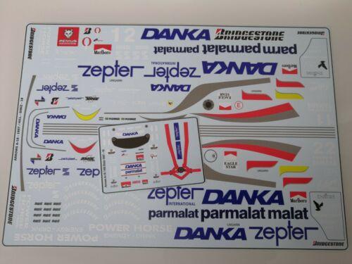 Pedro Diniz Decals 1997 1//18 Arrows A18 Damon Hill