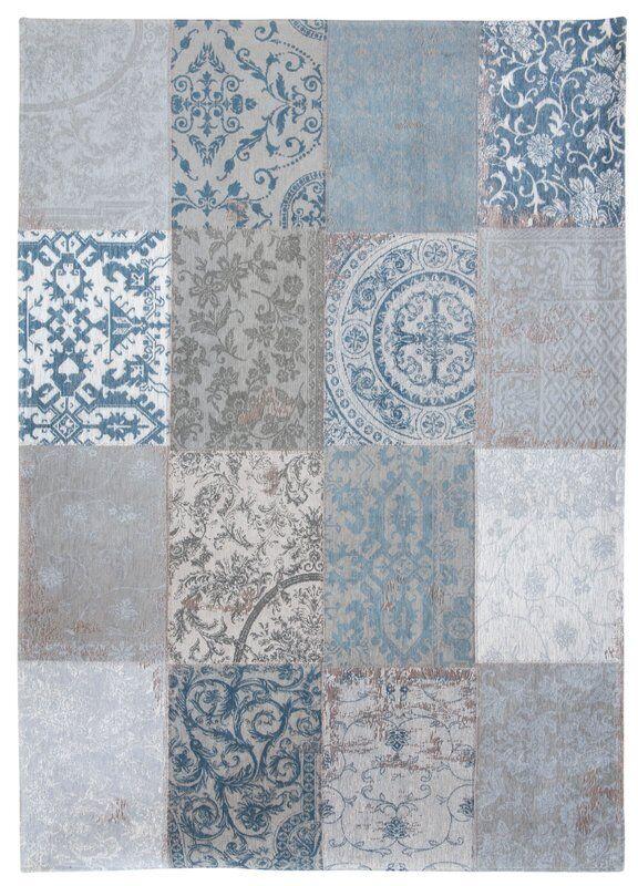 Louis DE favore VINTAGE 8981 Bruges Blu Blu Blu GEOMETRICI Area Tappeto, 80 x150cm 692e87