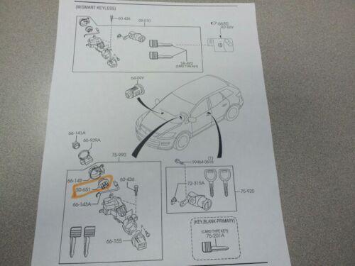 2007-2015 Mazda CX9 ignition switch inner knob oem !!