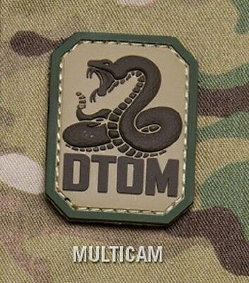 DTOM Dont Tread On Me Snake PVC Hook Badge Morale Military Patch