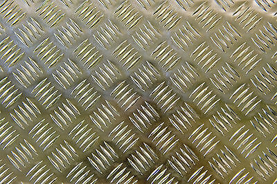 All sizes Splashback Aluminium 5 bar tread checker plate