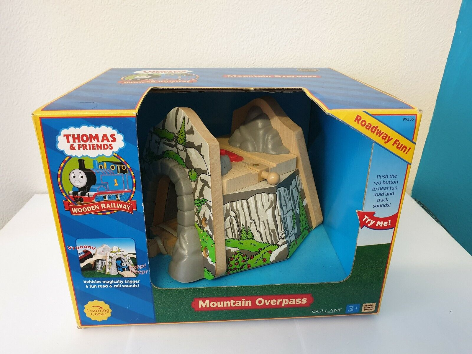 ⭐️ WOODEN THOMAS The Tank Engine MOUNTAIN OVERPASS 2002 Train Set LC 99355 ⭐️