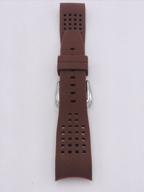 Watch Strap Locman for Watch Aviator Rubber Brown on Sale New
