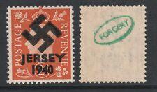 GB Jersey (269) 1940 Swastika Overprint forgey om genuine 2d stamp unmounted