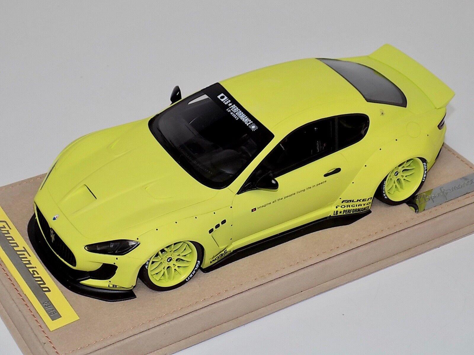 1 18 Modelos Maserati GranTurismo Liberty AB caminar Mate giallo Ruedas Alcántara