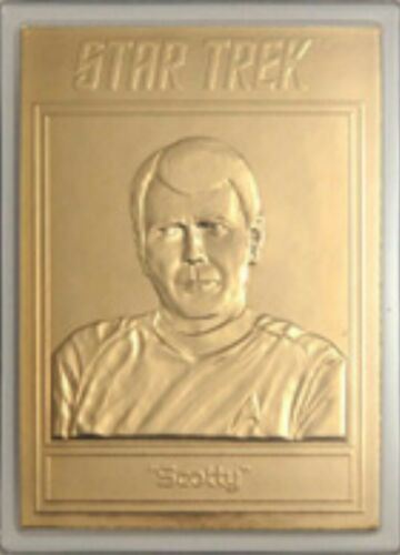 22KT GOLD STAR TREK TOS TRADING CARD SCOTTY