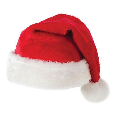 Adult / Kids Plush Fluffy Red Christmas Santa Hat