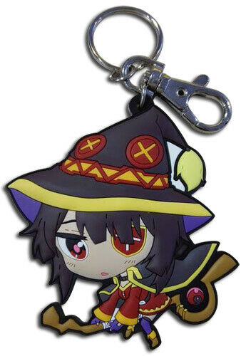 **Legit** Konosuba Authentic Anime PVC Keychain Arch Wizard SD Megumin #85340