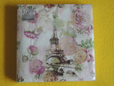 999 4 Motivservietten Servietten Napkins Tovaglioli  Eiffelturm Paris