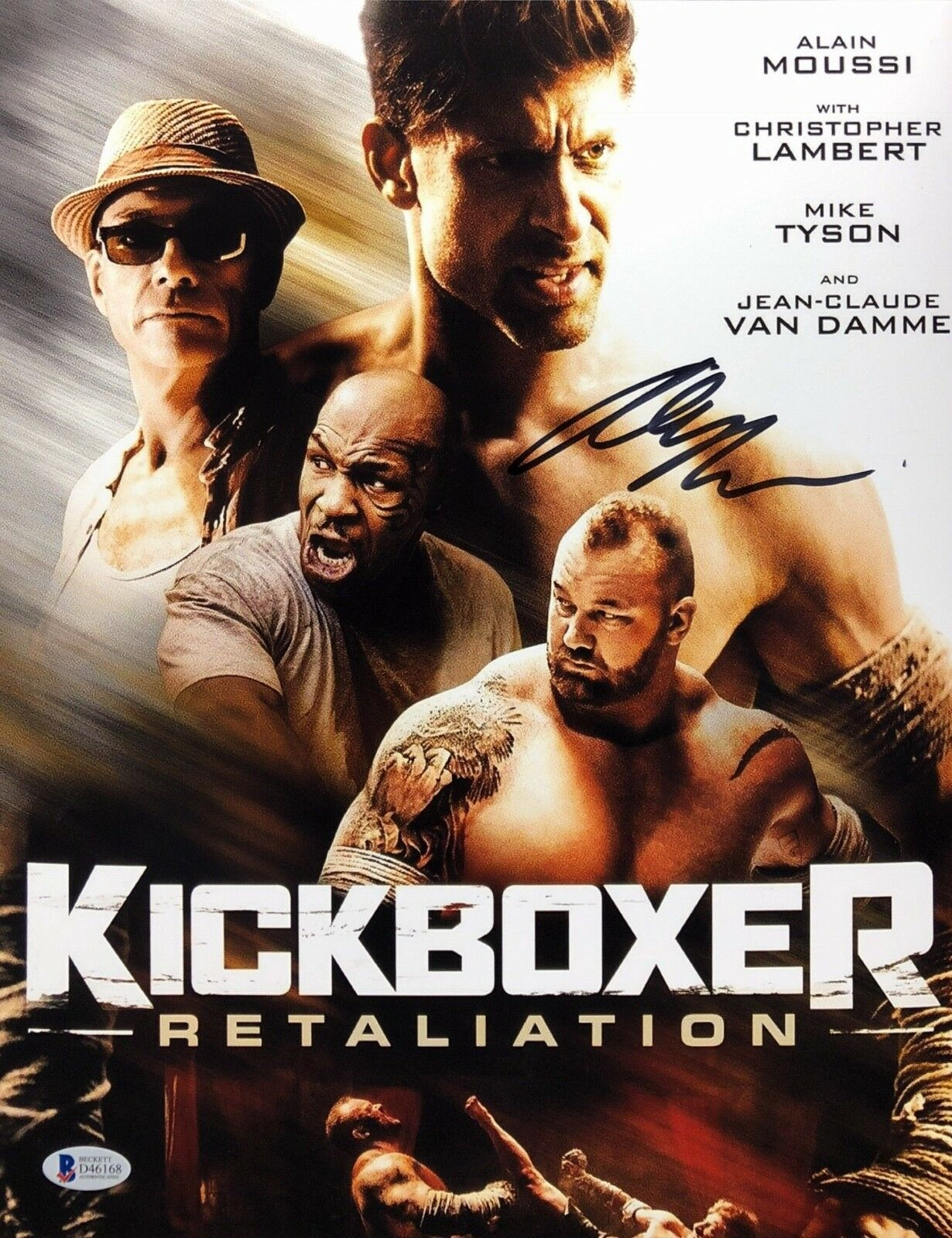 Alain Moussi Signed 'Kickboxer' 11x14 Photo *Mike Tyson BAS Beckett D46168