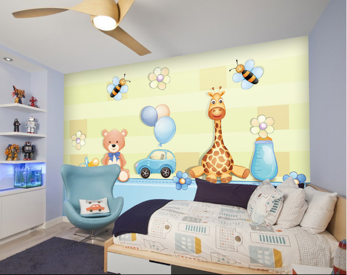 3D Animals 516 Wallpaper Murals Wall Print Wallpaper Mural AJ WALL UK Summer
