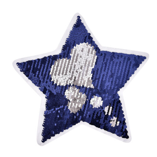 Reversible change love Sequin Five-pointed star shape Sew On Patch DIY Eh