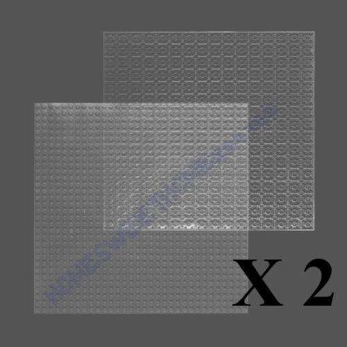 2 Pcs Transparent 32 X 32 Studs Double Side Base Brick Plate Compatible