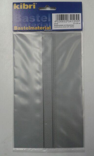 Pavé Feuille Plastique avec Tram Pistes - Kibri 34125 - Livraison Gratuite