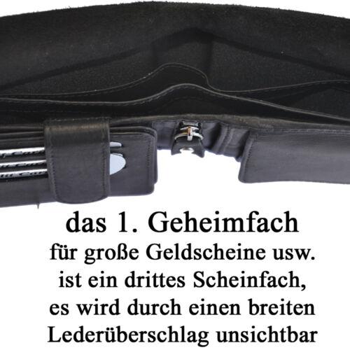 AMARI Geldbörse mit RFID-Schutz Geheimfächer Wiener Schachtel Geldbeutel Herren