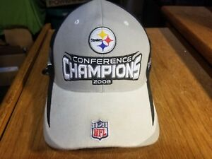 Image is loading Pittsburgh-Steelers-Super-Bowl-43-Conference-Champions-Hat- a14c3dd89